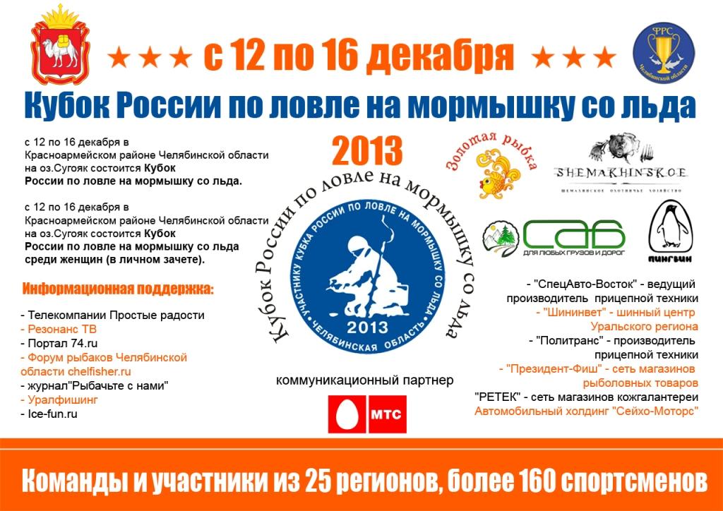 Кубок России по мормышке 2013г